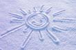 Słoneczko na śniegu uśmiech