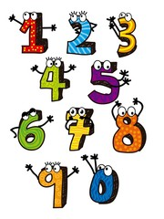 numbers drawing
