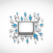 laptop web technology concept