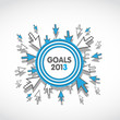 goals 2013 business target concept