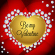 Valentines day vector greeting card with diamonds