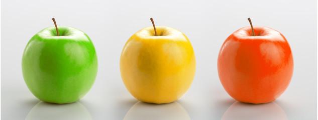 Set of three apples