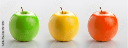 Obraz na Szkle Set of three apples
