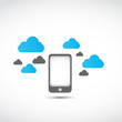smartphone cloud computing concept