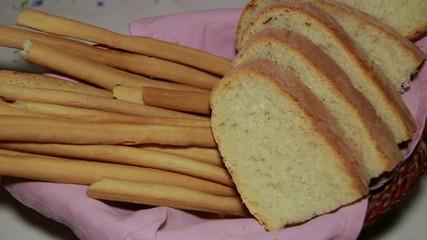 bread and grissini
