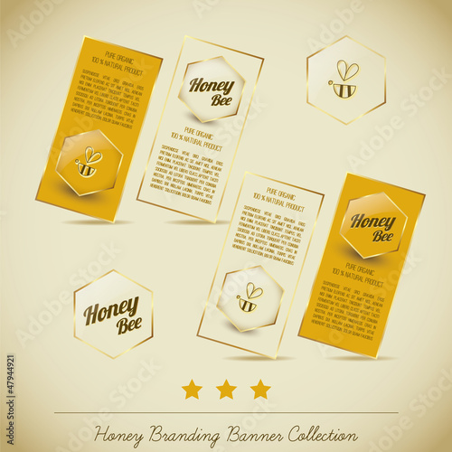 Honey Branding Banner Collection