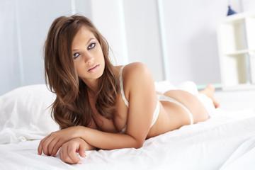 Female in lingerie