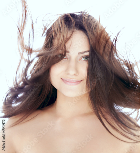 Portrait of smiling attractive woman