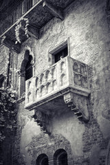 The famous balcony of Romeo and Juliet