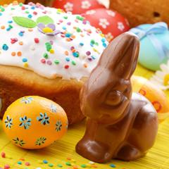 Easter eggs, cake