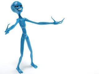 alien smiling