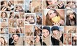 collage di ritratti femminili
