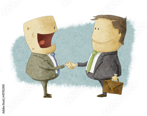 Shaking Hands on Reaching Agreement