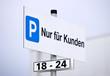 Schild Kundenparkplatz