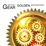 Abstract Golden Gear Background