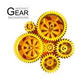 Abstract Gear Background