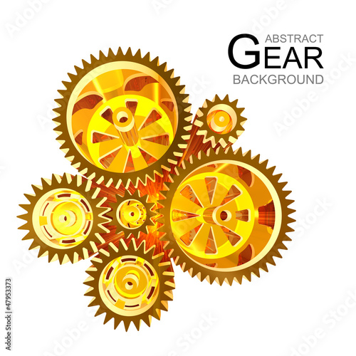 Abstract Gears combined in a butterfly
