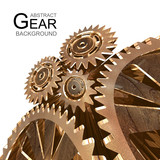Abstract Grunge Gear Background