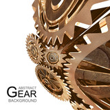 Abstract background of rusty gears