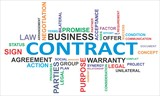 word cloud - contract