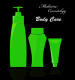 Medicine cosmetology.Body care.Vector poster