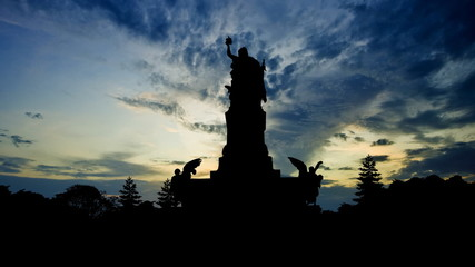 Germany Niederwald monument late afternoon