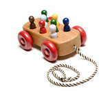 handmade wooden train children's toy