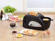 Multi purpose bread toaster with function for boiling and frying