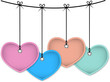 Colorful leather hearts