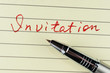 Invitation word
