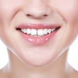 Healthy woman teeth and smile. Close up. - 47957156
