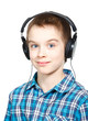 Kid wearing headphones