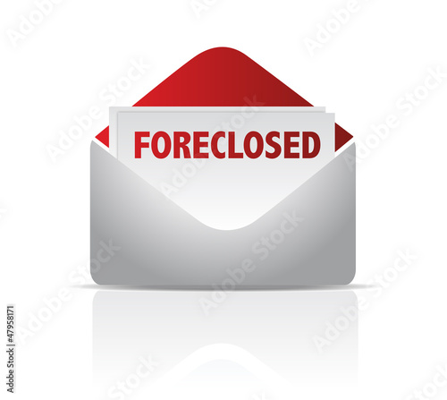 foreclosed mail envelope