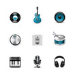 Music icons. Azzurro series