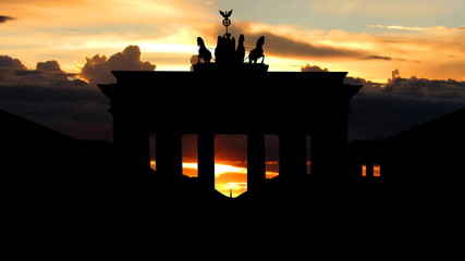 Germany The Brandenburg Gate sunrise