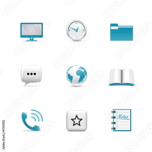 Internet icons. Azzurro series