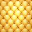 Golden vector upholstery leather pattern background.