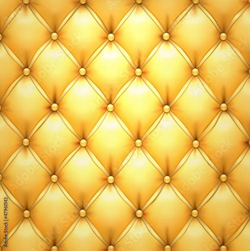 Naklejka Skórzana tapicerka złoty wektor wzór tła.