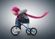 Little Girl on bicycle