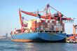 Fully loaded cargo ship