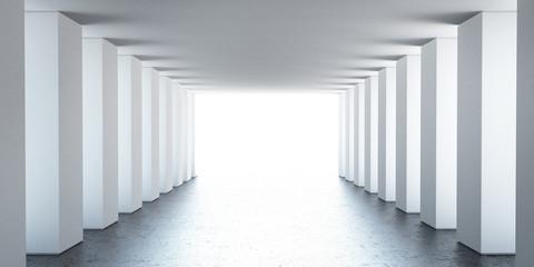 Empty interior with columns