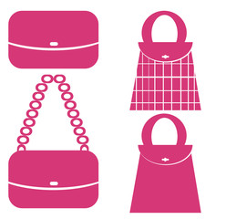 Shopping bags icon set