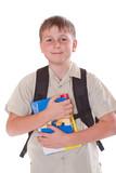 portrait of a schoolboy