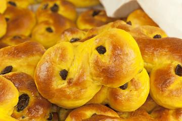 Traditional Swedish Saffron buns