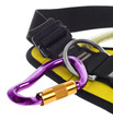 rock climbing harness and carabiner