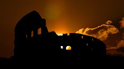 Italy Rome Colosseum sunbeams