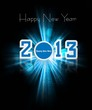 Happy new year 2013 colorful celebration holiday background