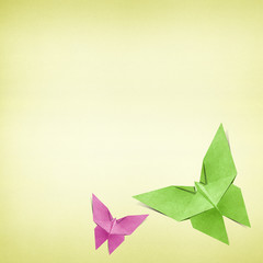 Origami butterfly made from Recycle Paper