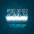 illustration of New Year 2013 mosaic blue colorful background