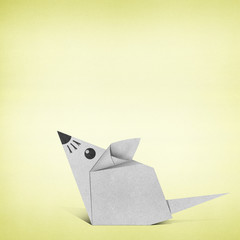 Origami rat made from Recycle Paper